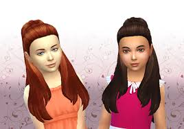 childs hairstyles sims 4 lana cc finds ariana hair for girls by kiara24 ts4 hair kids