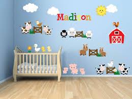 Farm Animal Nursery Decor Farm Theme Nursery Farm Theme Room Farm Animal Theme Wall