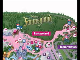 Magic Kingdom Map Orlando by Fantasyland Disney World Interactive Map Youtube