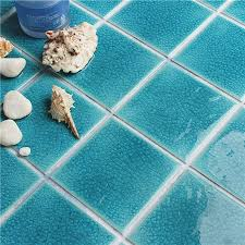 Frozen Shiny Blue Crackle BCQ608 Mosaic tile swimming pool