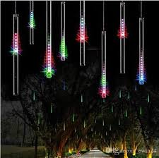 led meteor shower tube lights 50cm 240led meteor shower rain tube led christmas light wedding