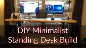 diy minimalist standing desk youtube