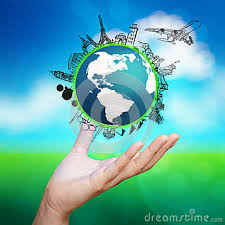 traveling around the world images Hand showing airplane traveling around the world illustration jpg