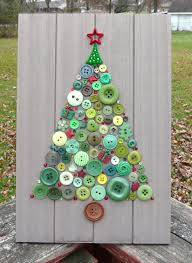 holiday tree christmas tree button art with swarovski crystals