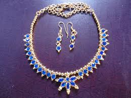 blue stone necklace earrings images Antique jewellery set arts jpg