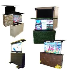 Outdoor Tv Cabinets For Flat Screens by Miragevision Outdoor Tv Lifts Cabinets Landscaping U0026 Outdoor