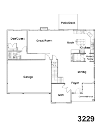 great room floor plans 3229 floorplan