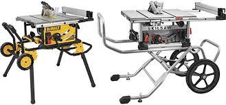 dewalt table saw folding stand reader question dewalt dwe7491 vs skilsaw spt99 table saw with
