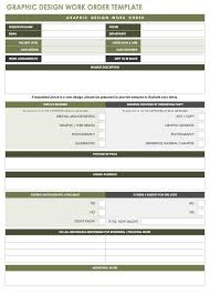 30 work order template for free download and use