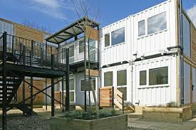 shipping containers transform into emergency housing for the