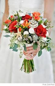 wedding bouquets with seashells seashell wedding bouquets wedding