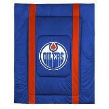Hockey Bedding Set Nhl Edmonton Oilers Bedding Set Hockey Comforter Sheets