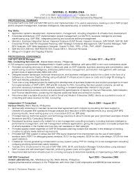 Sap Fico Resume Sample by Bi Project Manager Cover Letter