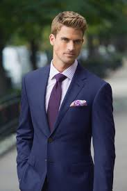 bright blue sharkskin custom suit lavender check tailored shirt