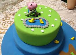 George Pig Cake Decorations 38 Best Peppa U0026 George Cakes Images On Pinterest Birthday Cakes