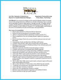 bar manager job description resume bar server resume sample resume