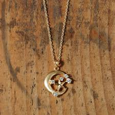 jewelry star necklace images Jewelry avaron rakuten global market luna star k18 diamond moon jpg