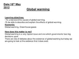 Global Warming Worksheet Introductory Lesson To Global Warming By Hayley2504 Teaching
