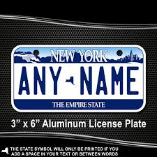 Nys Vanity Plates New York Replica State License Plate For Bikes Bicycles Atvs