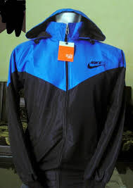 Jual Jaket Nike jual jaket parasut hoodie nike biru tua hitam murah dan keren