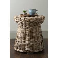 Ceramic Side Table Outdoor Rattan Side Table Wayfair