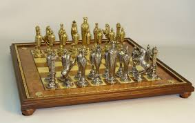 Metal Chess Set by Metal And Brass Chess Set 48m Ebg Newcentco Board Games