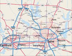 Fort Worth Map Map Of Dallas Texas And Suburbs World Maps