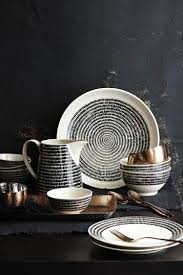 black and white crockery mad about the house