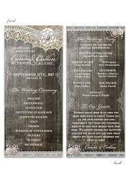 Wedding Programs Rustic Wedding Programs Archives Odd Lot Paperie