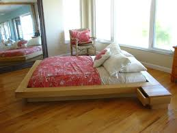 platform bed frame with drawers ikea flat feet for metal