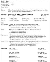 Resume Qualifications Sample by Sample Art Resume 9 Examples In Word Pdf