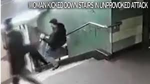 Leg Pain Going Down Stairs by Subway Thug Who Kicked Woman Down Flight Of Stairs Is Jailed Over