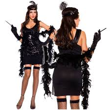 dapper halloween costumes tobeinstyle women u0027s five piece sequined fringed dapper 1920s dress