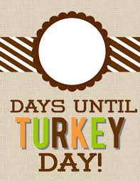 detail oriented days until turkey day countdown