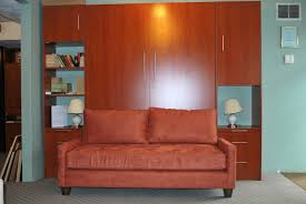 Mini Couch For Bedroom by Old Style Murphy Bed Made Of Maple Wood In Cherry Finished With