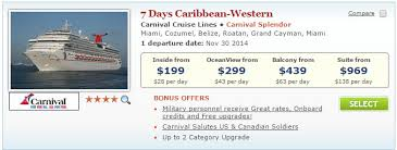 carnival cruises starting at 90 in pack go sale cruisesource