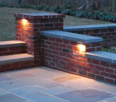 Patio Wall Lighting Outdoor Brick Walls Outdoor Lighting Serene Home And