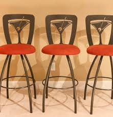 retro martini set of three retro martini barstools by tricia furniture ebth