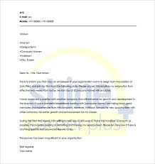 Sample Of A Resignation Letter From A Job Sample Resume Format by 18 Notice Period Letter Templates Free Sample Example Format