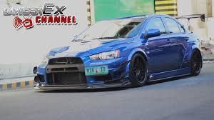blue mitsubishi lancer the blue varis lancer evolution x youtube