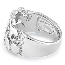 silver mens wedding bands silver men s nugget design ring