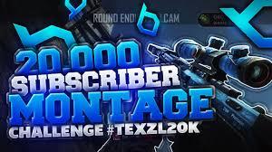 Challenge Montage 20 000 Subscriber Montage Challenge Texzl20k