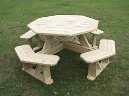 Free Plans Hexagon Picnic Table by Octagon Picnic Table Program Attractive As Well As Practical