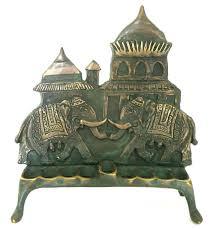 elephant menorah indian style elephant design chanukah menorah made by shaul baz