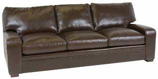 Designer Leather Sofa by Saddle Stitched Leather Pillow Back Track Arm Sofa