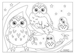 coloring page coloring pages owls owl family page coloring pages