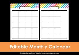 printable calendar 2016 etsy printable calendar 2 page monthly calendar printable rainbow