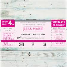 diy birthday invitation printable concert ticket birthday