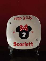 autograph plate this listing is for an mickey mouse birthday autograph plate