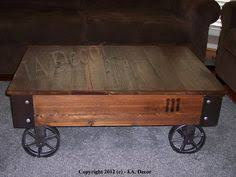 Rustic Coffee Table With Wheels Build A Factory Cart Coffee Table Hgtv Coffee And Create